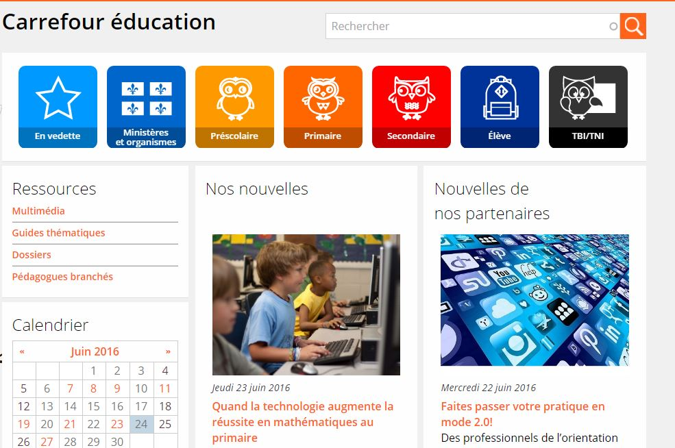 Image du site Web : Carrefour Education