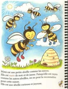 """Un page tiré de """"Les aventures de Mimi et ses amis"""""""