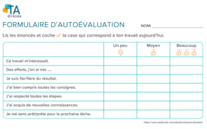 Image du formulaire d'autoévaluation