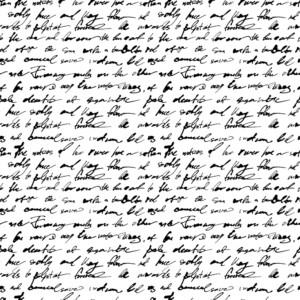 image d'une écriture illisible