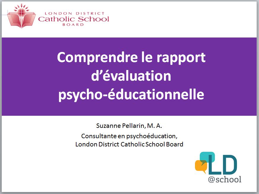 Image de la page titre de la présentation PowerPoint de Suzanne Pellarin