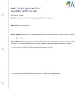 image de la feuille QRAC the code.