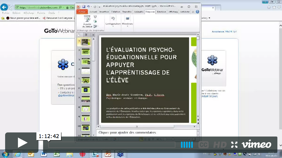 Image pour le webinaire: L'évaluation psycho-éducationnelle pour appuyer l'apprentissage de l'élève