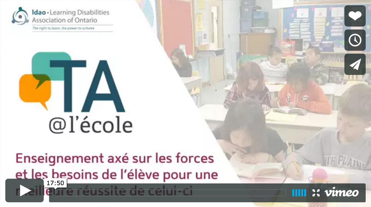 Image pour le video L'enseignement axé sur les forces et les besoins