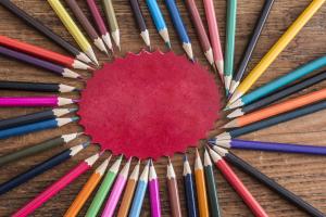 Image de plusieurs crayons