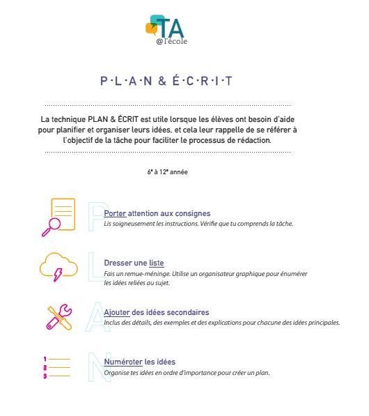 Image du PDF, Plan&Write