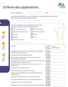 Image des critères d'applications