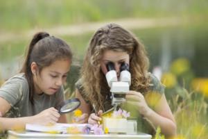 Deux élèves entrain d'étudier science