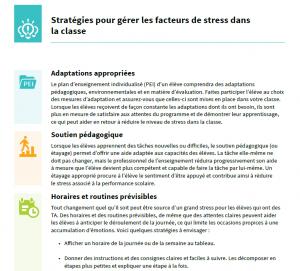 Aperçu du document Stratégies pour gérer les facteurs de stress dans la classe