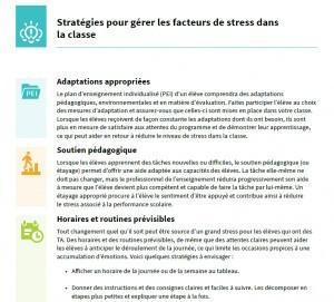 Image du PDF: Stratégies pour gérer les facteurs de stress dans la classe