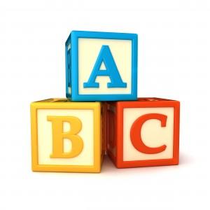 3 blocs lettres