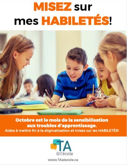 Affiches pour la sensibilisation aux troubles d'apprentissage 2019