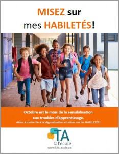 Image de la première affiche pour la sensibilisation aux troubles d'apprentissage.