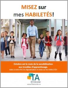 Image de la deuxième affiche pour le mois de la sensibilisation aux troubles d'apprentissage.