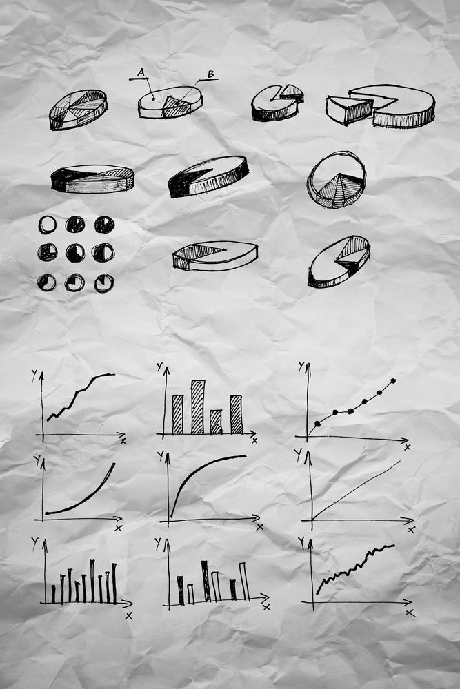 diagrammes mathématiques sur papier charte
